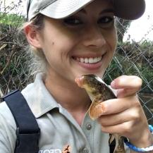 Me with my favorite fish: Alabama Hogsucker (Hypentelium etowanum)!