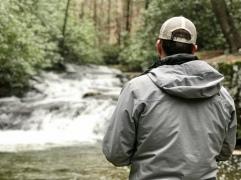 Mark fishing at Wildcat Creek